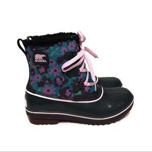🆕 Sorel Tivoli Duck Boots Floral Waterproof